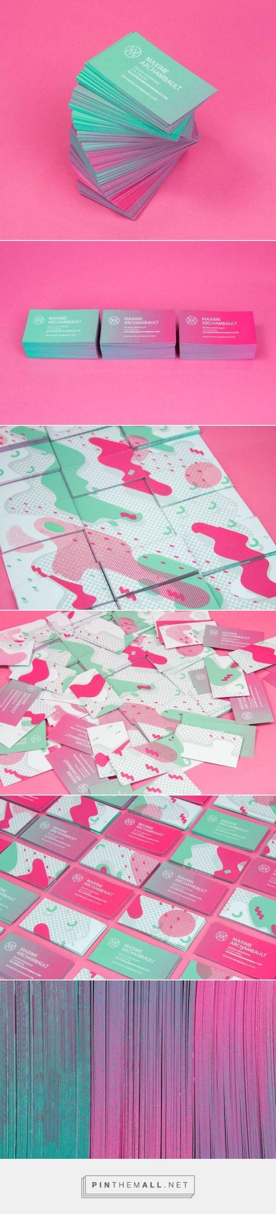 Maxime Archambault Business Cards on Behance | Fivestar Branding – Design and Branding Agency & Inspiration Gallery