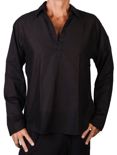 Mens Lightweight Soft Cotton Long Sleeve Shirt Slightly