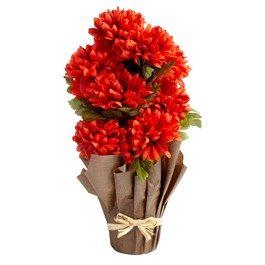 21 Artificial Chrysanthemum Flower Pot Christmas Tree Shop Flower Pots Potted Christmas Trees