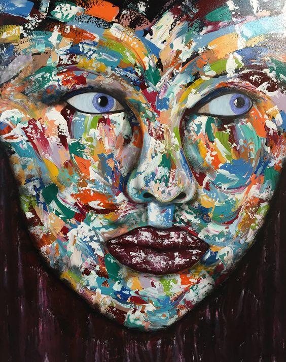 150cm x 120cm #abstract #artwork created by #artist Glenn Farquhar #acrylic…