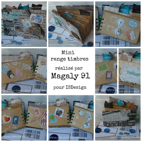 Mini album range timbres réalisé par Magaly 91 DT ISDesign  http://infinimentblog.canalblog.com/archives/2015/01/25/index.html