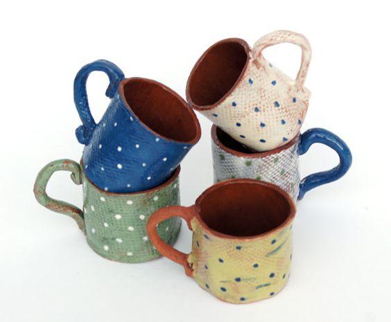 Expreso los amantes de la taza de café taza cerámica regalo-Polka puntos taza