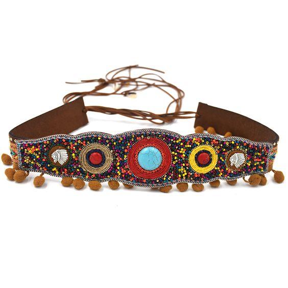 Encontrar Más Cinturones y Fajas Información acerca de 2016 Nueva Gypsy Hippie…