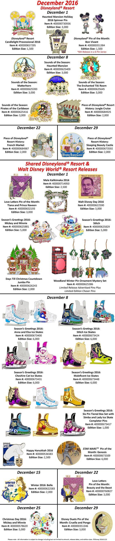 December Pins Announced For Walt Disney World & Disneyland