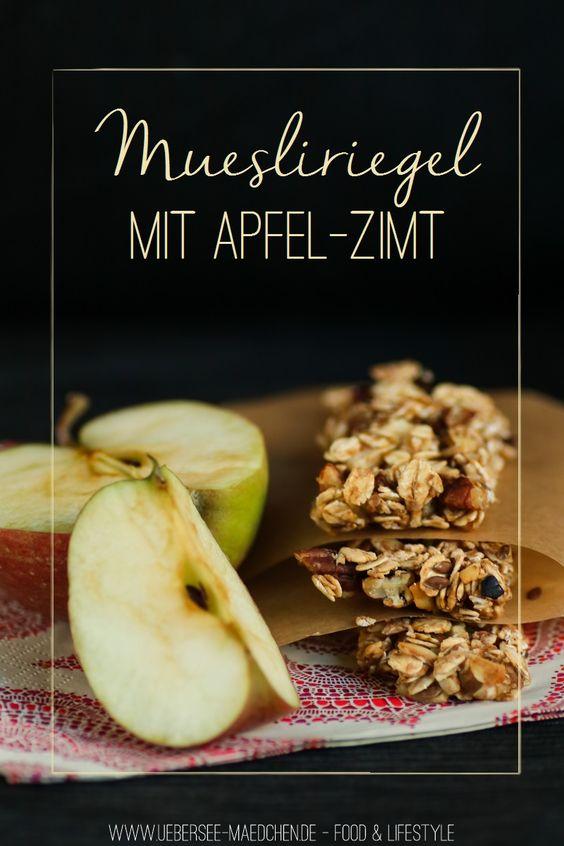 Selbstgemachte Müsliriegel mit Apfel, Nuss und Zimt   Homemade Granola-Bars with Apple, Nuts and Cinnamon via ÜberSee-Mädchen - Ein Blog über Food, Photographie & die schönen Dinge