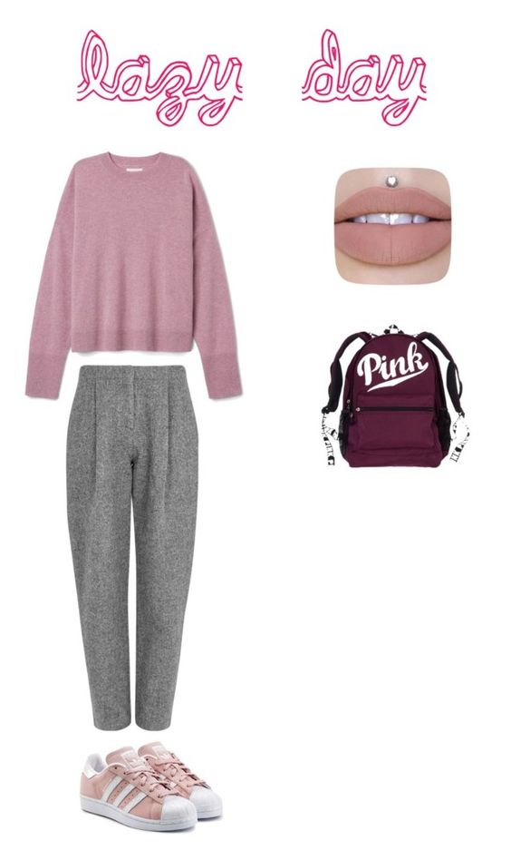 """""""lazy day"""" by hunt2bailey ❤ liked on Polyvore featuring beauty, Acne Studios and adidas Originals"""