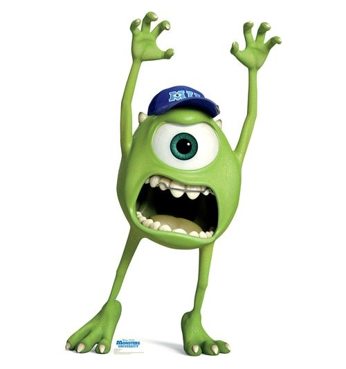 Mike Wazowski Disney Pixar S Monsters University Cardboard Cutout 1499 Monster University Monsters Inc Mike And Sulley