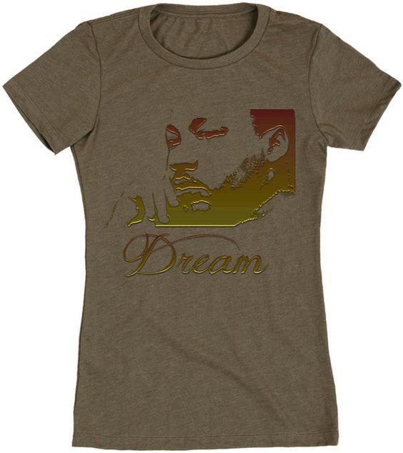 DREAM Martin Luther King Jr Ladies Short Sleeve Tee