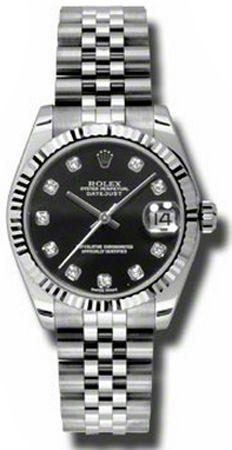 Rolex Datejust Femme Fond Noir