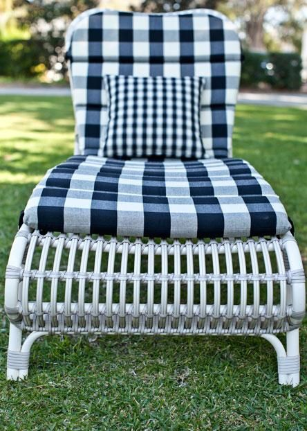 From spring dresses to garden furniture, gingham's homespun appeal