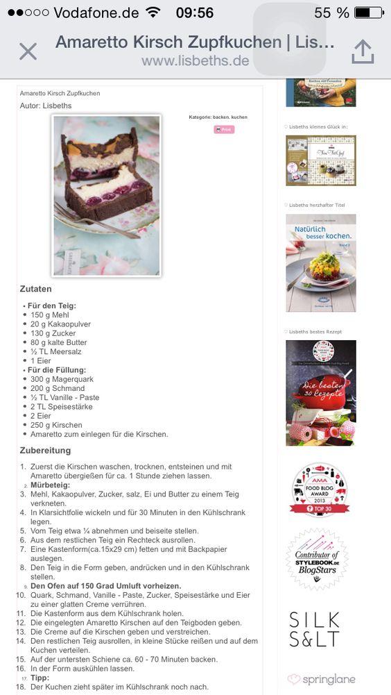 Amaretto Kirsch Zupfkuchen