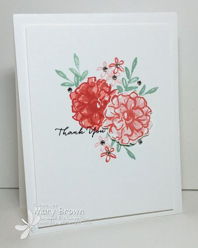 CAS by Mary featuring What I Love (SAB) from Stampin' Up!: