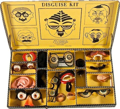 Disguise kit: Disguise Set, Disguise Kits, Vintage Design, Convincing Disguise, Fun Disguise, Vintage Toys, Disguise Eyes, Vintage Disguise, Kid