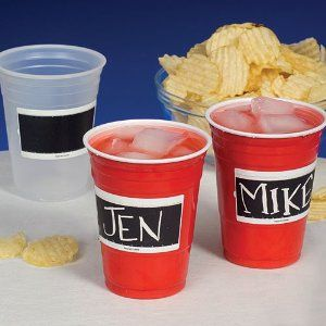 Amazon.com: Etch-it Disposable Write-On Party Cups - 18 oz - Pack of 24: Red: Kitchen & Dining