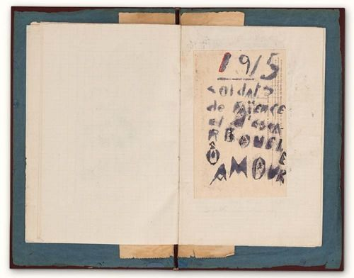 marottahour: Guillaume Apollinaire, Case d'Armons (Artillery-carriage compartment for personal effects). Museum of Modern Art, NY, NY