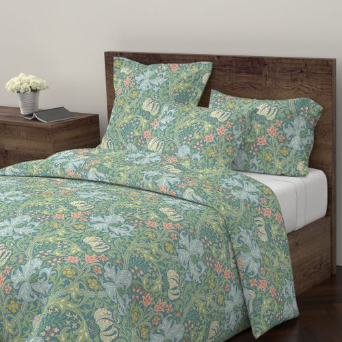 Colorful Fabrics Digitally Printed By Spoonflower Golden Lily Original 24 The William Morris Collection Sham Bedding Duvet Covers Pastel Floral Duvet Cover