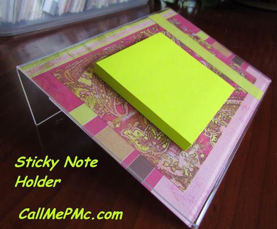how to make a sticky note slinky