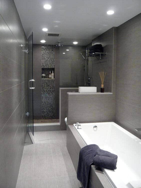 39 Galley Bathroom Layout Ideas To Consider White Bathroom Designs Bathroom Design Small Small Bathroom Remodel