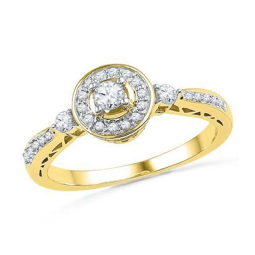 10K Yellow-gold 0.40CTW DIAMOND FASHION RING