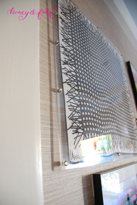 How to make an acrylic frame: Honey-and-Fitz-Lucite-Framing-a-Scarf