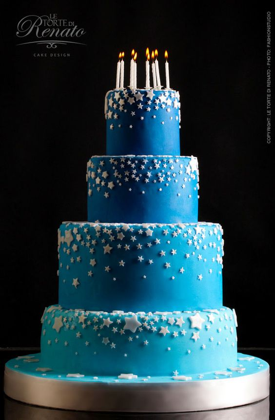 Cake Decorating Ideas Stars : Blue Sky cake.. COOL CAKES Pinterest Mom, Star cakes ...