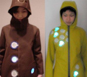Puddle Jumper - a Luminescent Raincoat by Elise Co  via talk2myShirt http://bit.ly/FPu47a (November 2008) #softcircuit #environment #EL
