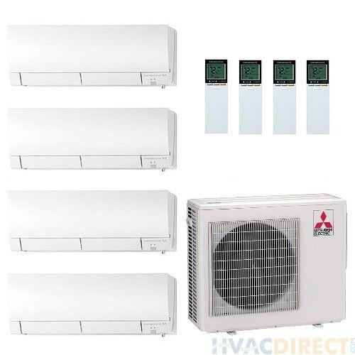 Mitsubishi 4 Zone Mini Split Systems Heat Pump System Split System