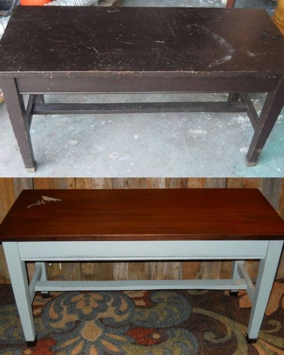 Piano Bench, Duck Eggs And Blue Chalk Paint On Pinterest