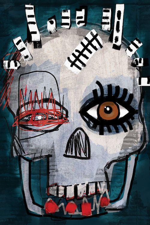 Hi Canvas Print By Daniel Malta Icanvas Funky Art Art Painting Basquiat Art