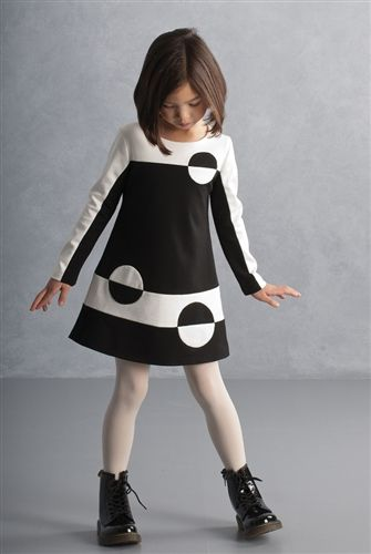 This stylish Biscotti dress is designed with retro flair and is great for everyday wear as well as special occasions. This boutique girl dress is made from a thicker knit fabric and is lined which makes it perfect for cooler fall days. Free ship in July: