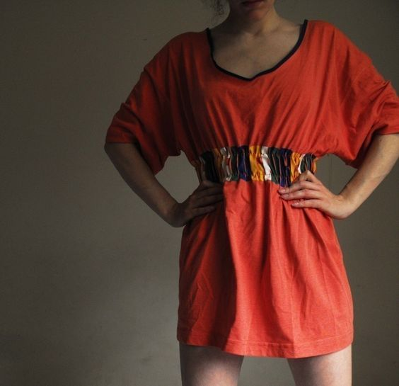 Diy Couture Tshirt Dress-- So cute and not that difficult!