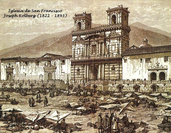 San Francisco de Quito y su plaza.