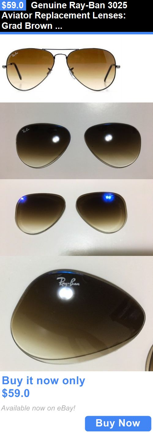 ray ban sunglasses glass replacement  replacement lenses: genuine ray ban 3025 aviator replacement lenses: grad brown glass multicoat