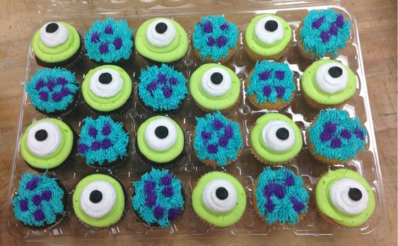 Monsters Inc. cupcakes