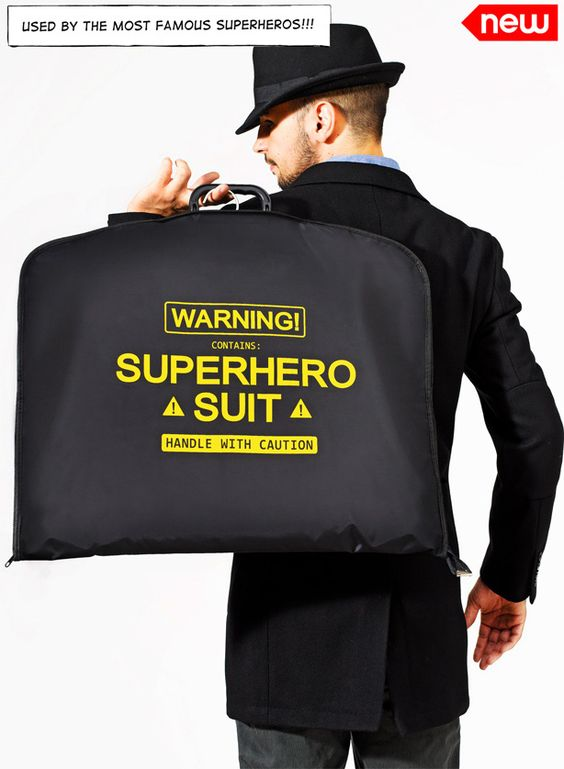 Superhero Suit Garment Bag | Community Post: 15 Travel Themed Gifts To Give Your Favorite Globetrotter
