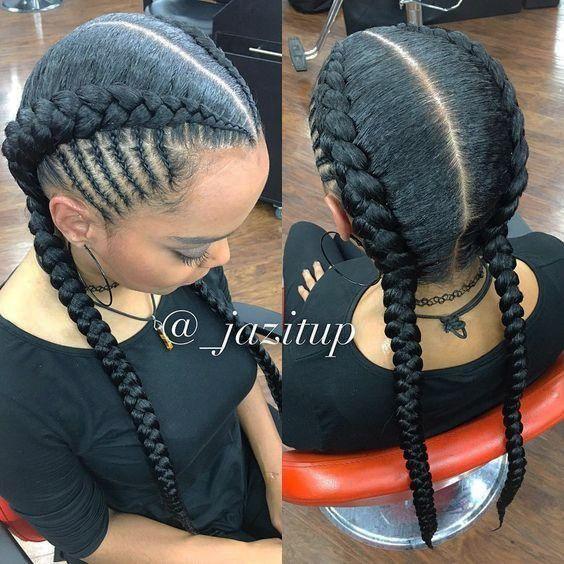 Beste 12 Cornrows Frisuren Mit 2 Zopfen Pinnel Natural Hair Styles Braided Hairstyles Hair Styles