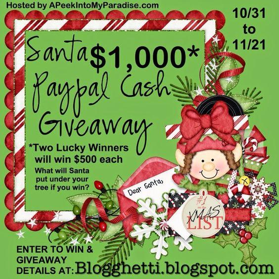 Blogghetti: Santa Paypal Cash Giveaway!