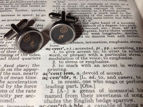 Typecast Cufflinks Strong Accent, $32.00