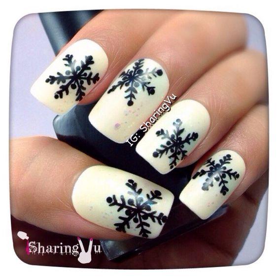 snowflakes by sharingvu #nail #nails #nailart