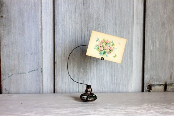 photo card holder // door knob card holder // by umbrellafant, $12.00