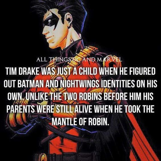 Tim Drake figured out Batman and Nightwings Identities when he was just a child.