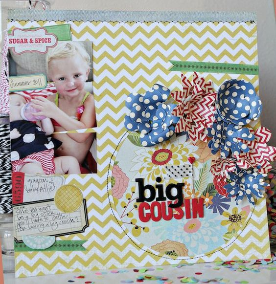 Big Cousin by Shannon Tidwell.  #fourthofjuly #scrapbooking