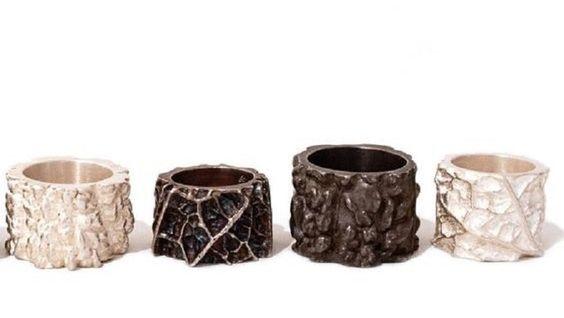 Barbara Paganin | Impronte | rings, silver - at OHMYBLUE!: