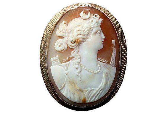 14K Gold Cameo of the Goddess Diana on OneKingsLane.com   $665.00