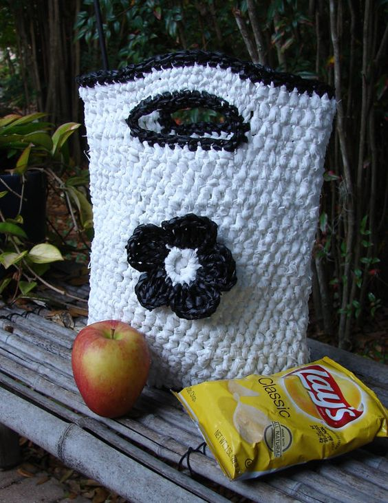 Ecofriendly Plarn Lunch Tote by AppleOrchardDesign on Etsy