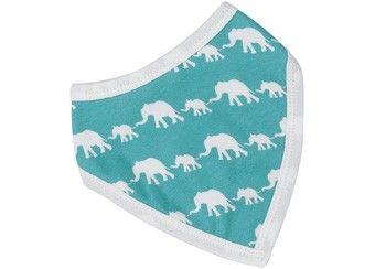 coole omkeerbare bandana slab met olifantjes Organics for Kids | kinderen-shop Kleine Zebra