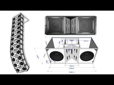 Plan Vertec Line Array Element 12 X2 5 5 X4 1 5 X2 Copy Youtube In 2021 Speaker Box Design Speaker Plans Sound Boxes