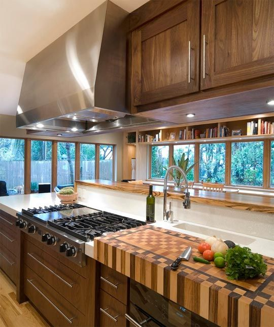 Real Kitchens 10 Modern Applications Of The Butcher Block