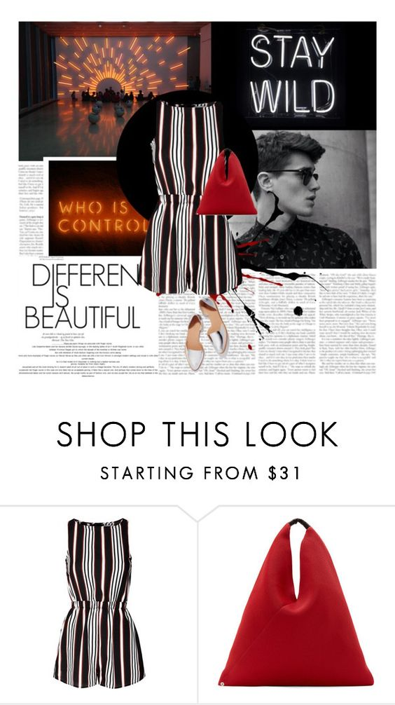 """""""28/07/2016"""" by ella-1 ❤ liked on Polyvore featuring Glamorous, MM6 Maison Margiela and Loeffler Randall"""
