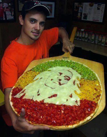 Bob Marley Rasta pizza
